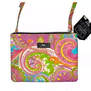 SCOUT Pink Paisley Crossbody Snap 2 It Bag NWT